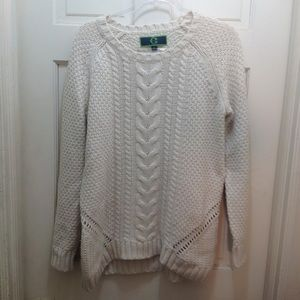 C Wonder Cream Cableknit Sweater